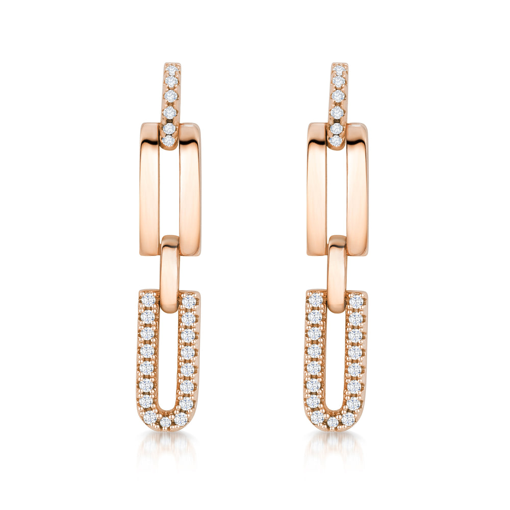 Molly Earrings- Rose Gold