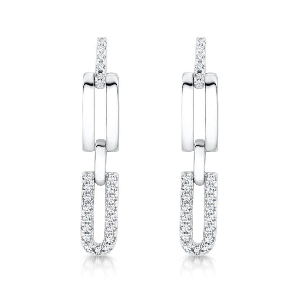 Load image into Gallery viewer, Molly Earrings- Rhodium