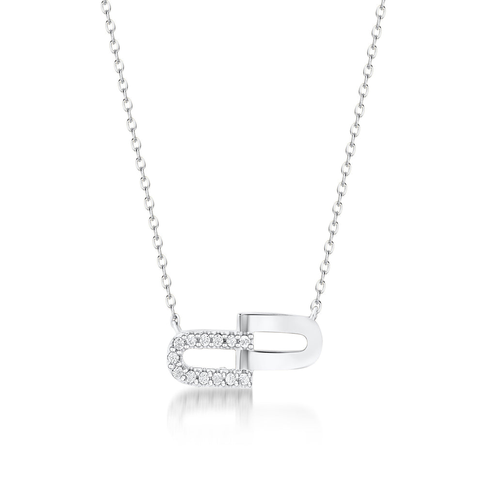 Load image into Gallery viewer, Molly Pendant- Rhodium