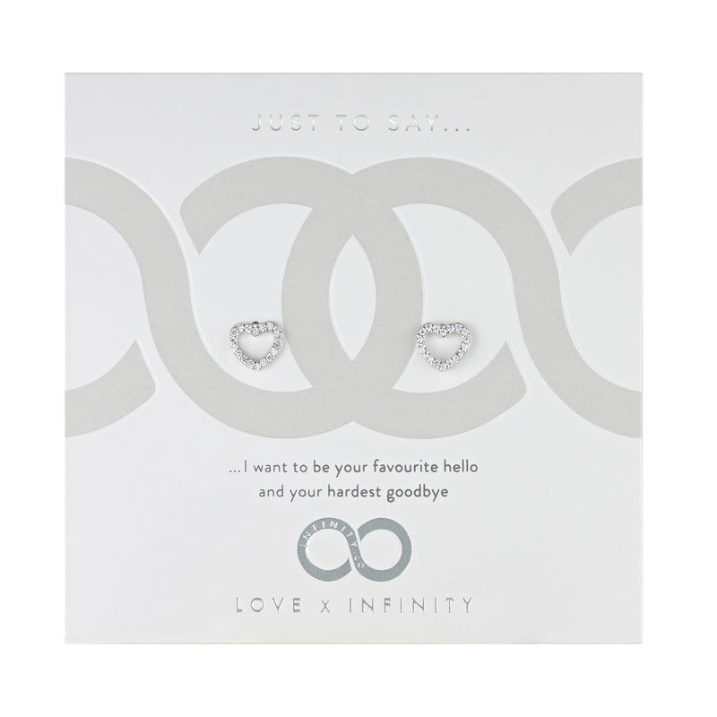LXI Hearts & Arrows Earrings - Rhodium