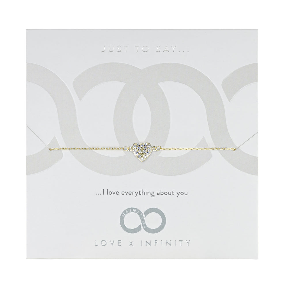 Load image into Gallery viewer, LXI Pave Heart Bracelet - Gold