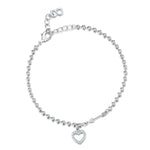 Hearts & Arrows Bracelet - Rhodium