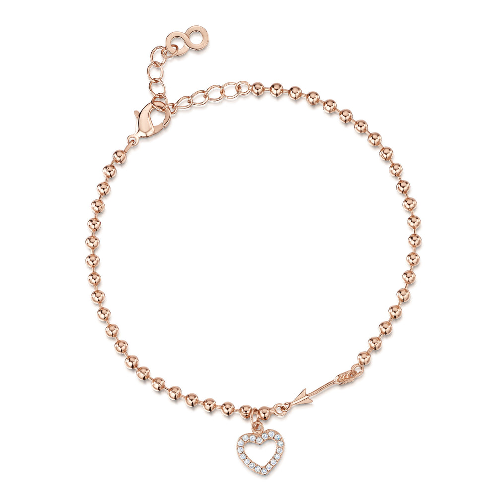 Hearts & Arrows Bracelet - Rose Gold