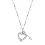 Hearts & Arrows Pendant - Rhodium
