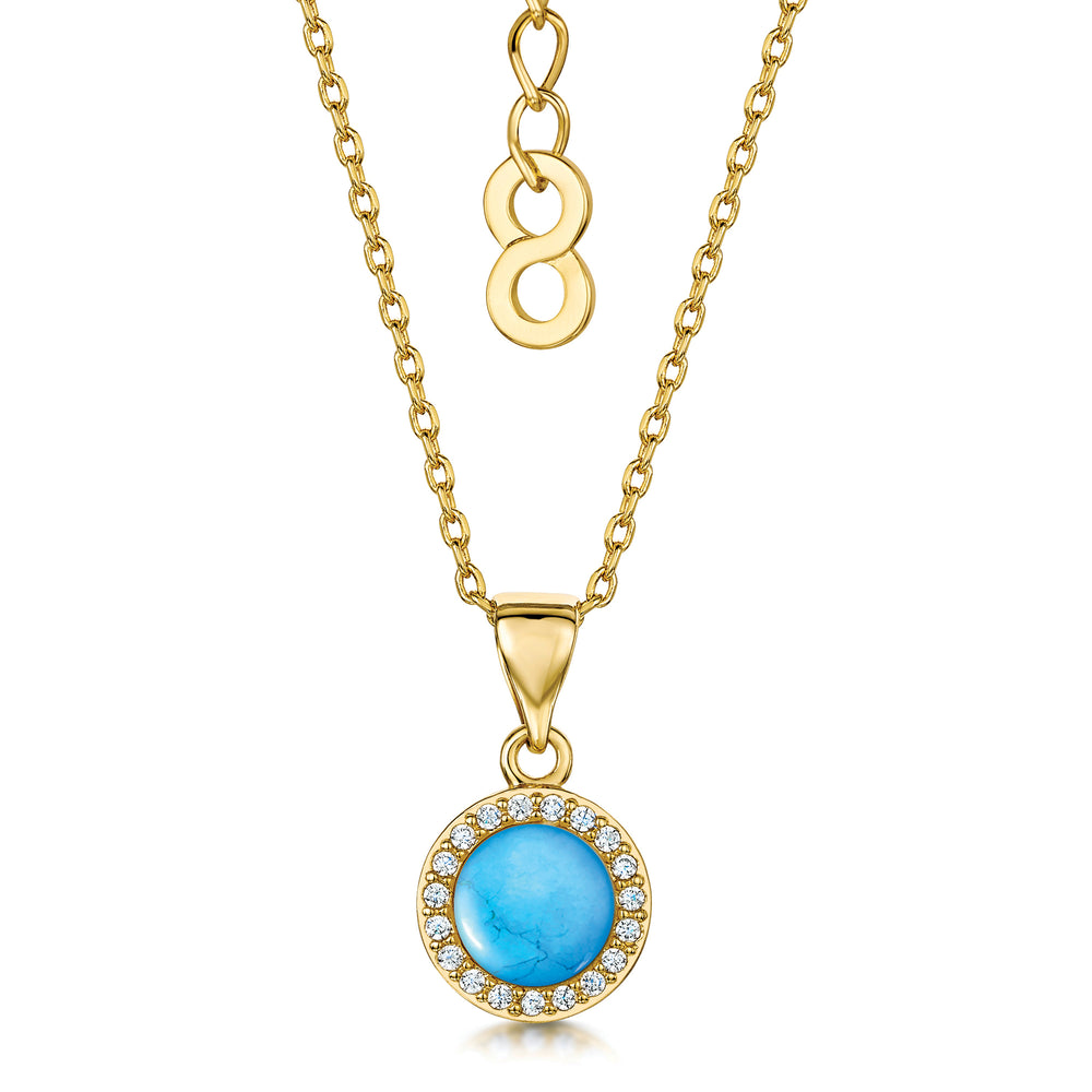 Load image into Gallery viewer, Rosanna Pendant - Turquoise/Yellow Gold