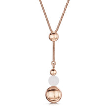 rosanna necklace rose gold with rose quartz