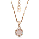 rosanna rose gold pendant with rose quartz