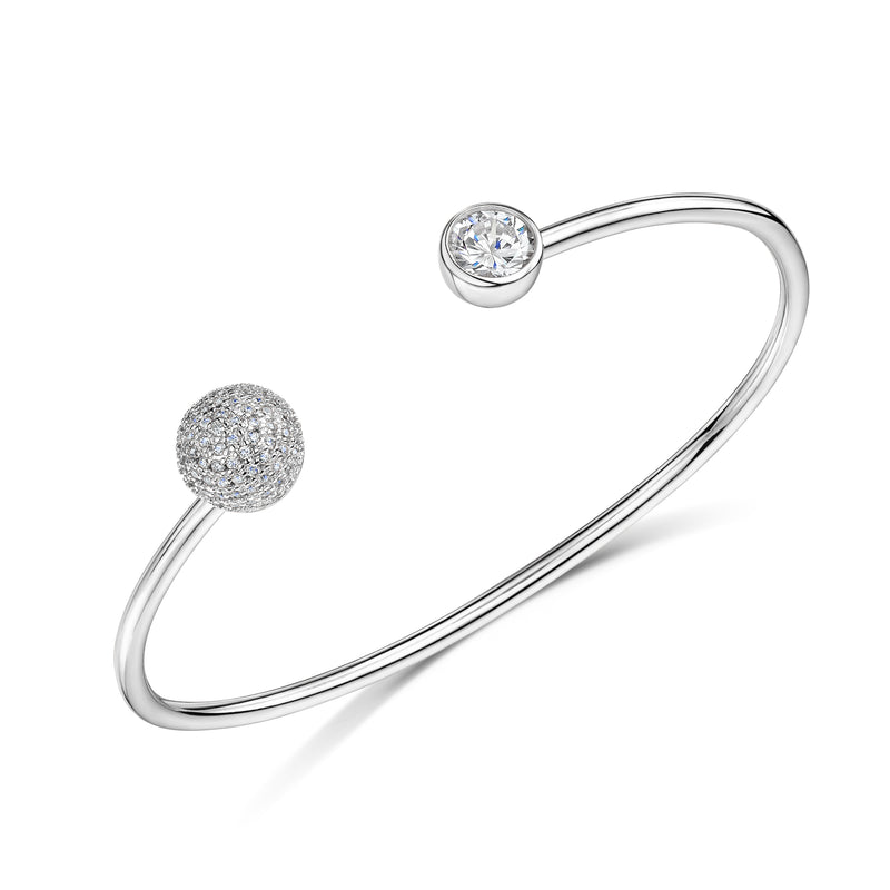 Sophia cuff rhodium bangle