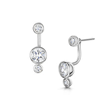 Sophia Earrings - Rhodium