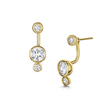 sophia gold interchangeable earrings