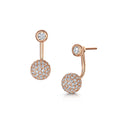 sophia interchangeable earring rose gold