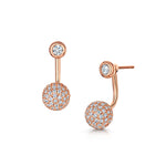Sophia Earring Duo Set Rose Gold
