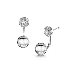 sophia interchangeable earring rhodium