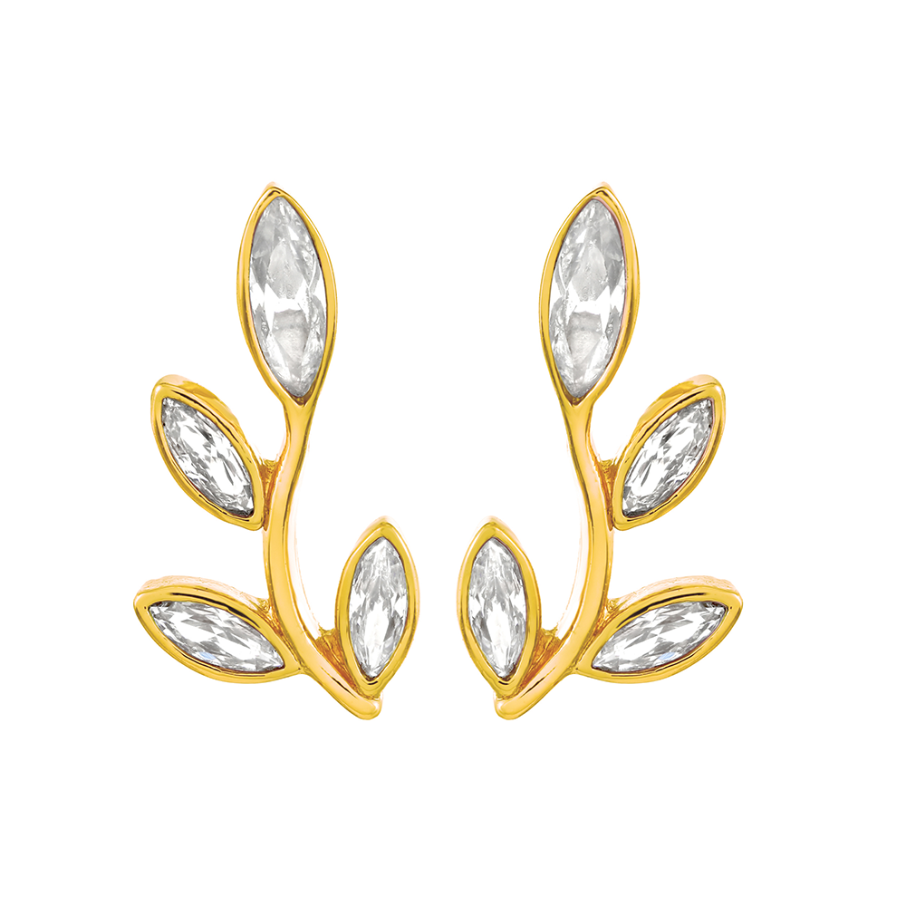 Theresa Pendant Set - Clear/Yellow Gold