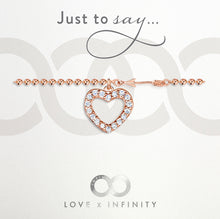 LXI Hearts & Arrows Bracelet - Rose Gold