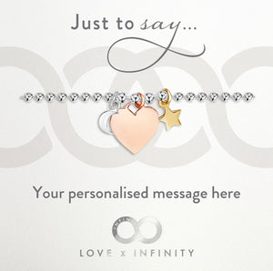 Load image into Gallery viewer, LXI Heart Moon & Stars Bracelet