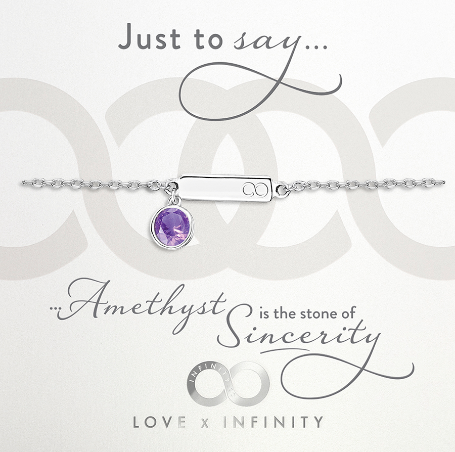 Load image into Gallery viewer, LXI Birthstone Bracelet Amethyst/February
