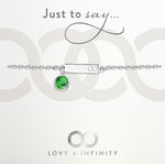 LXI Birthstone Bracelet Emerald/May