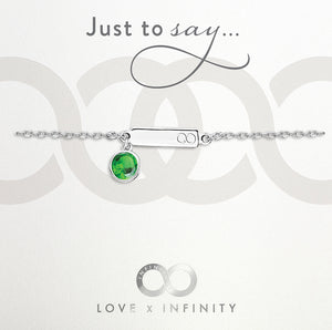 Load image into Gallery viewer, LXI Birthstone Bracelet Emerald/May