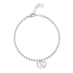LXI Double Heart Bracelet