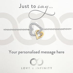 Load image into Gallery viewer, LXI Entwined Hearts Bracelet Gold