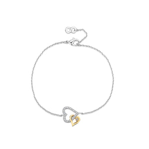 LXI Entwined Hearts Bracelet Gold