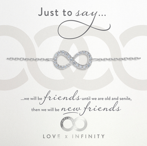 Load image into Gallery viewer, LXI Infinity Bracelet Rhodium