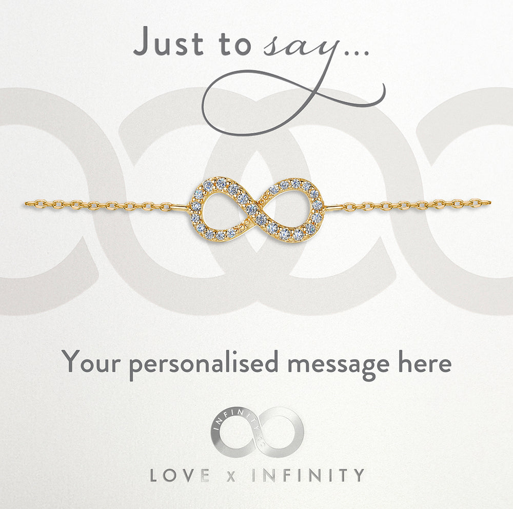 Load image into Gallery viewer, LXI Infinity Bracelet Gold