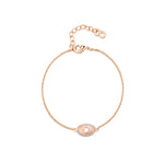 Oval Cut Out Heart Bracelet