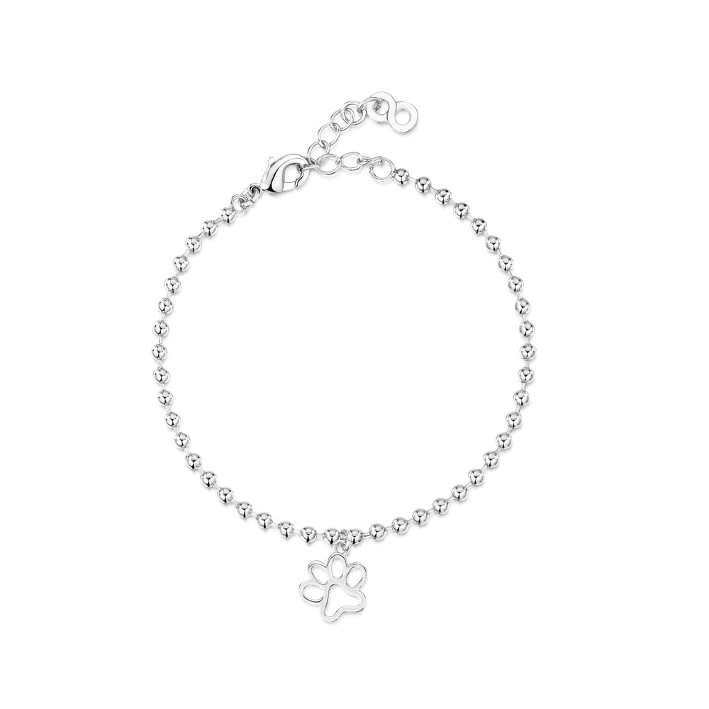 Load image into Gallery viewer, LXI Paw Print Bracelet Rhodium