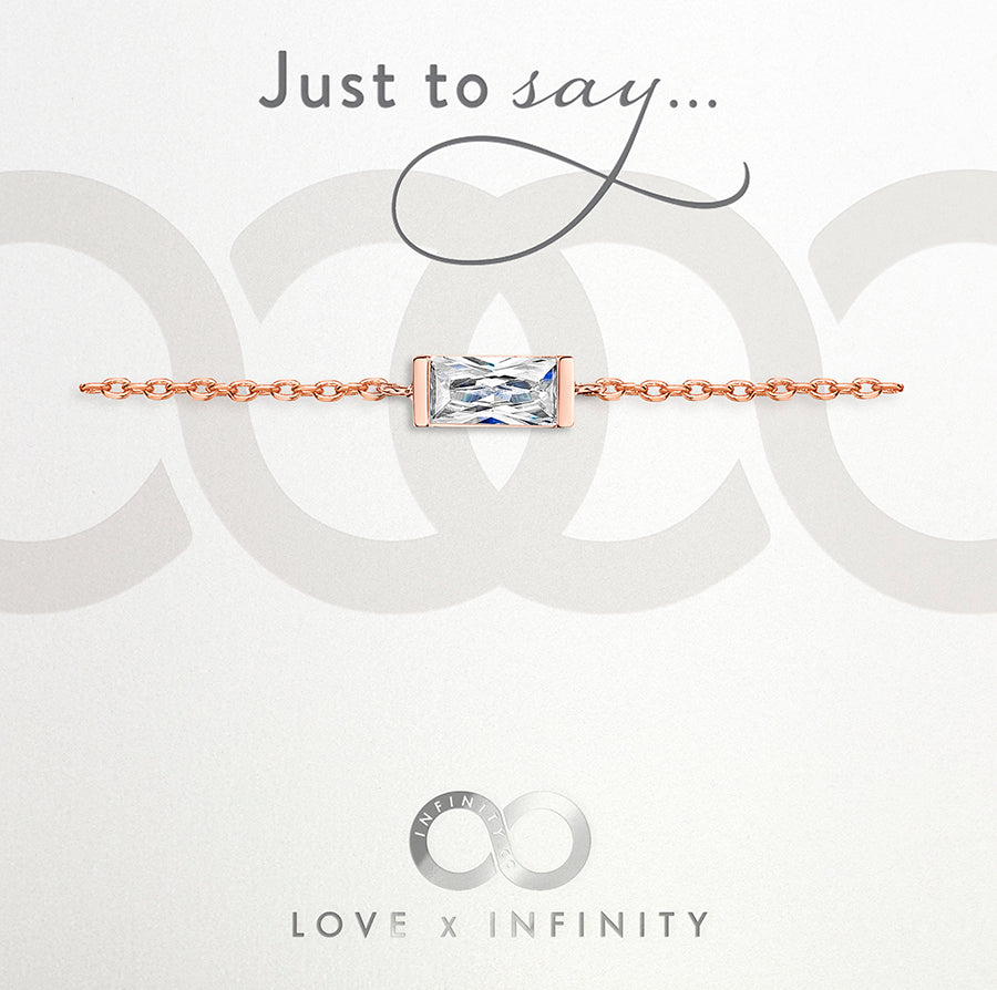 Load image into Gallery viewer, LXI Baguette Bracelet- Rose Gold
