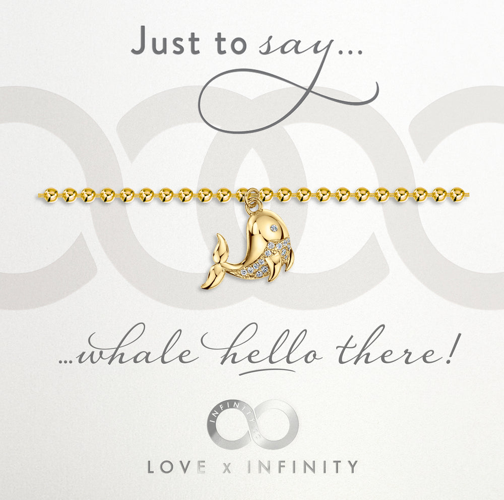 Load image into Gallery viewer, LXI Whale Bracelet- Gold