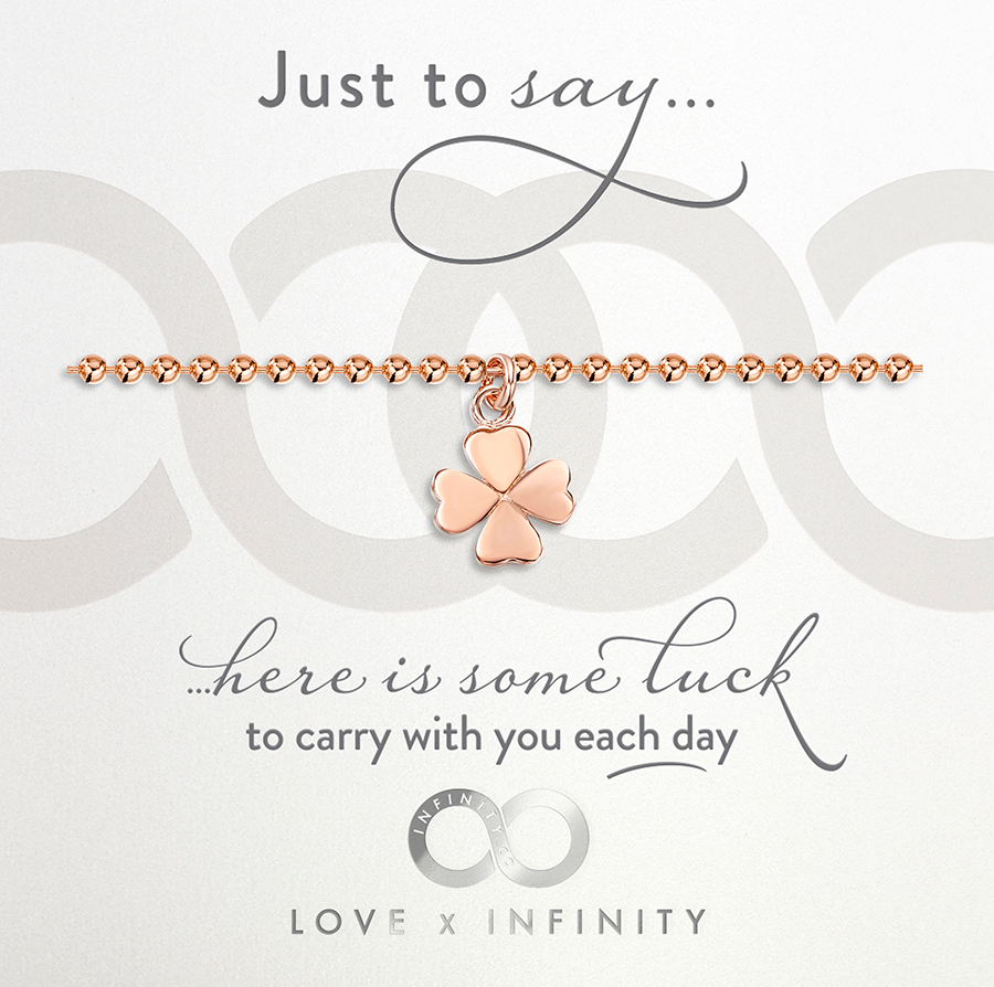 LXI Four Leaf Clover Bracelet - Rose Gold