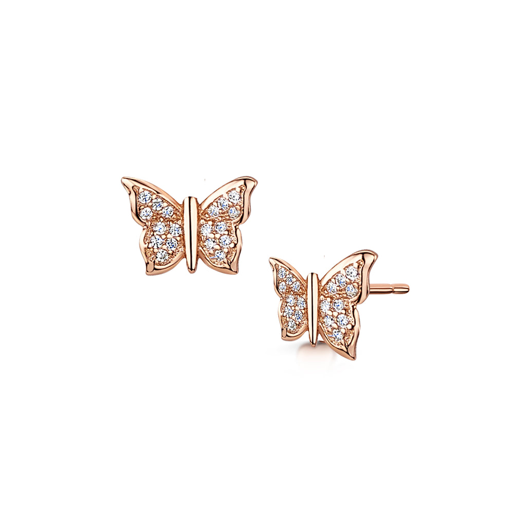 LXI Pave Butterfly Earrings