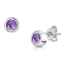 LXI Birthstone Earrings Amethyst