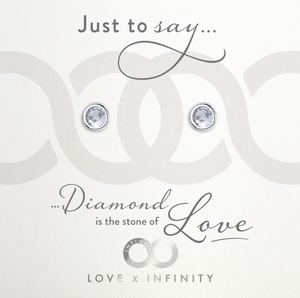 Load image into Gallery viewer, LXI Birthstone Earrings DiamondApril
