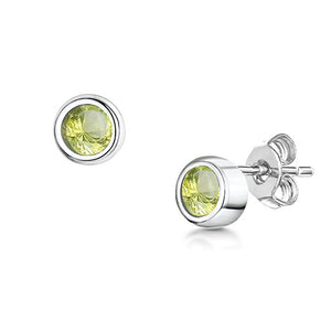 Load image into Gallery viewer, LXI Birthstone Earrings Peridot/August