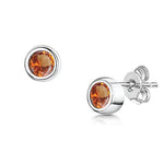 LXI Birthstone Earrings Topaz/November