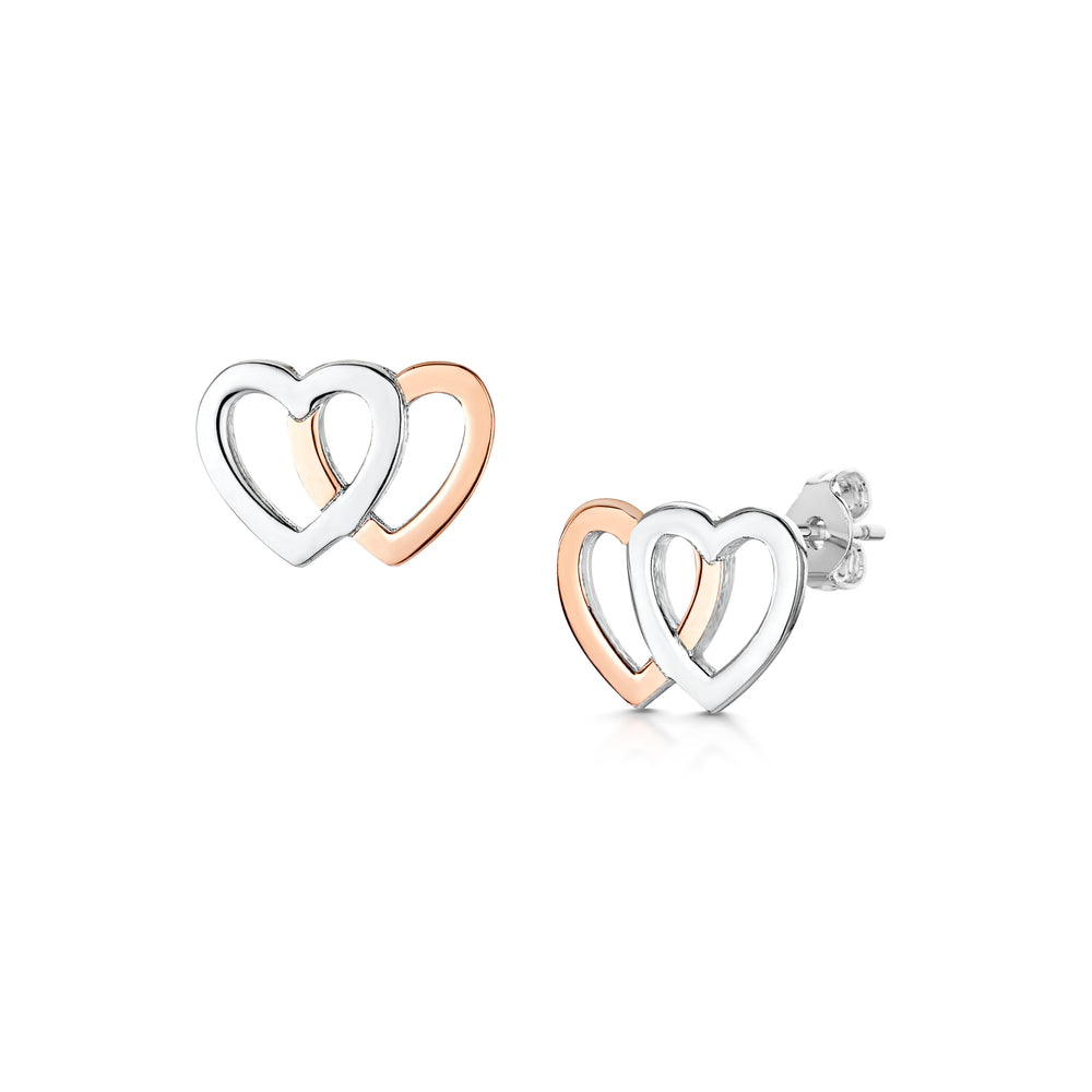 Load image into Gallery viewer, LXI Double Heart Earrings