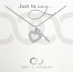 LXI Hearts & Arrows Pendant - Rhodium