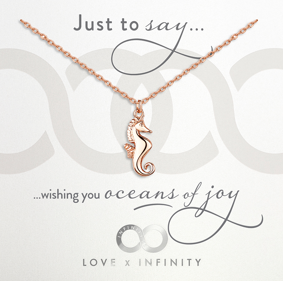 LXI Seahorse Pendant - Rose Gold