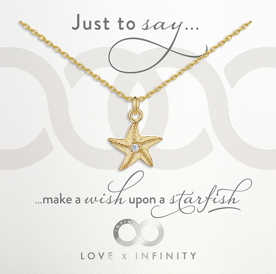 LXI Starfish Pendant - Yellow Gold