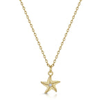 Starfish Pendant - Yellow Gold