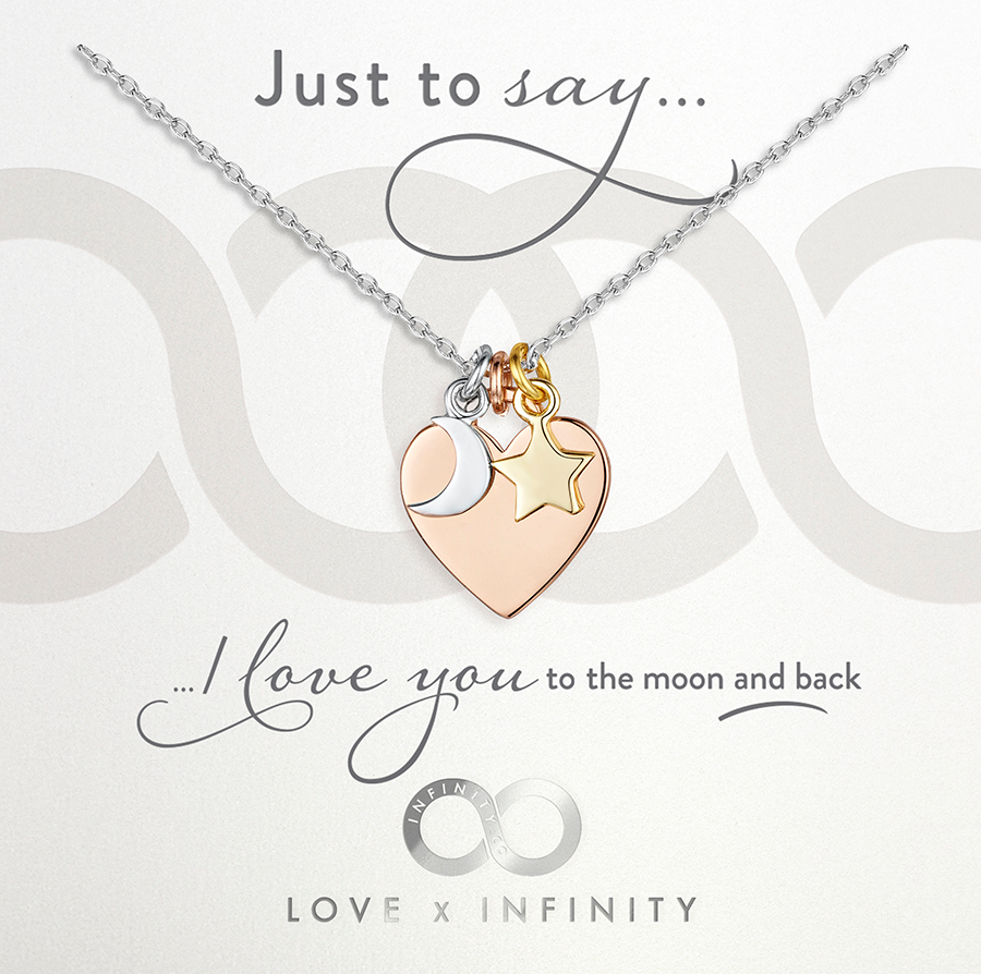 Load image into Gallery viewer, LXI Heart Moon & Stars Pendant