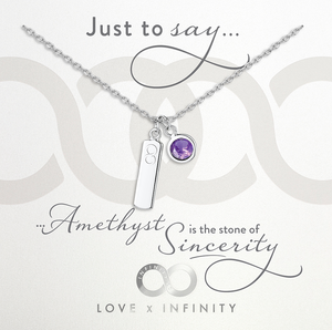 Load image into Gallery viewer, LXI Birthstone Pendant Amethyst/February