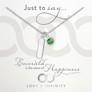 LXI Birthstone Pendant Emerald/May