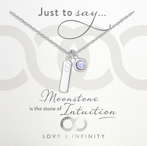 LXI Birthstone Pendant Moonstone/June