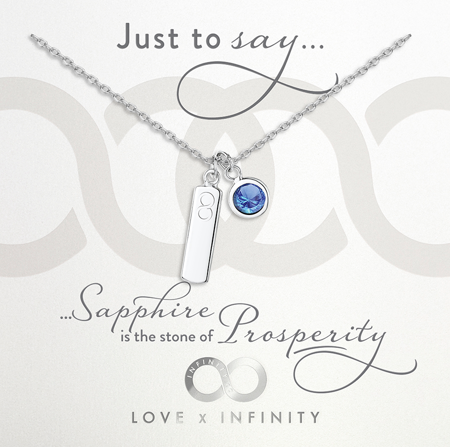Load image into Gallery viewer, LXI Birthstone Pendant Sapphire/September