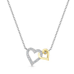 Entwined Hearts Pendant Yellow Gold