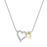 LXI Entwined Hearts Pendant Yellow Gold